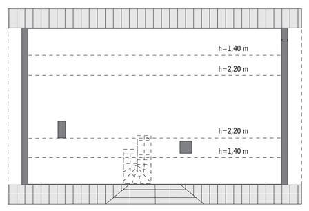Rzut poddasza: do indywidualnej adaptacji (70,3 m2 powierzchni użytkowej)