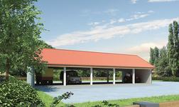 Wiata garażowo-magazynowa