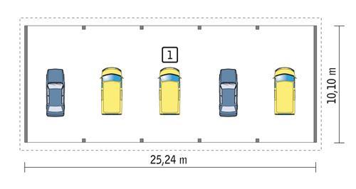 Rzut parteru POW. 249,1 m²