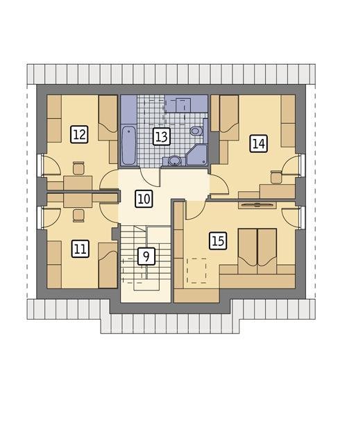 Rzut poddasza POW. 80,9 m²