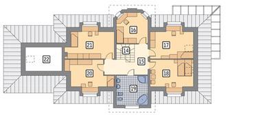 RZUT PODDASZA POW. 96,9 m²